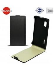 Telone Neo Slim Flip Case HTC 601e One Mini M4i vertical book case Black