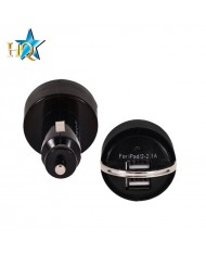 HQ 2.1A / 1A Car 12V/24V Charger USB Plug Universal Black (Tablet PC/Mobile Phone)
