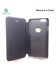 Nillkin Eco Leather Book Case iPhone 6 4.7inch Shine Silver Grey