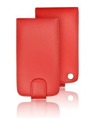 Forcell Vertical Case Samsung I8910 Omnia HD vertical case Red