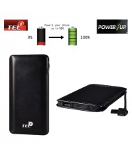 TEL1 B12 Power Bank 12000mAh External Battery Micro USB / USB 5V 1A/2.1A Port Black