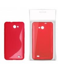 KLT Back Case S-Line LG Swift L5 E610 silicone/plastic case Red