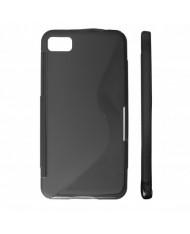 KLT Back Case S-Line HTC 8X C620e silicone/plastic case Black