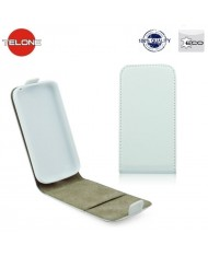Telone Flexi Slim Flip LG L90 D405 vertical case in silicone holder White