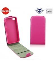 Telone Flexi Slim Flip LG L90 D405 vertical case in silicone holder Pink