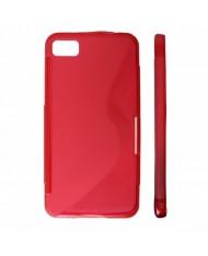 KLT Back Case S-Line HTC 8X C620e silicone/plastic case Red