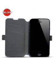 Telone Super Slim Shine Book Case with stand LG D390 Optimus F60 Black