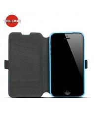 Telone Super Slim Shine Book Case with stand Microsoft Lumia 430 Blue