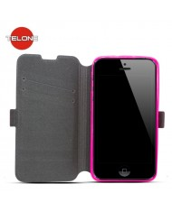 Telone Super Slim Shine Book Case with stand Microsoft Lumia 430 Pink