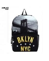 "Mojo ""Brooklyn New York"" Backpack (43x30x16cm) Multi Color"