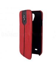 Ferrari Samsung i9500 Galaxy S4 Ferrari Leather Flip Book FEMTFLBKS4RE Red