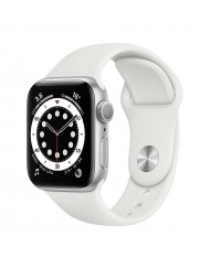 Smartwatch Apple Watch 6 44mm silver with White Sport Band M00D3HC/A
