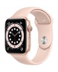 Smartwatch Apple Watch 6 44mm gold with pink Sport Band
