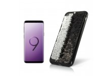 TakeMe MAGIC shine Paillette TPU ultra slim back cover case for Samsung G965F Galaxy S9 Plus Black/Silver