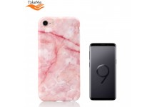 TakeMe Marble stone TPU super thin back cover case for Samsung G965F Galaxy S9 Plus Pink