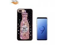 TakeMe Glitter TPU silicone-plastic Liquid 3D back cover case for Samsung Galaxy S9 (G960) Unicorne Black