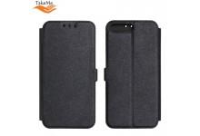 TakeMe Super Slim Shine Book Case with stand Huawei Honor 10 Lite Black
