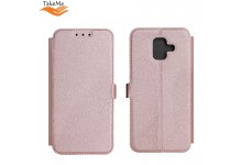 TakeMe Super Slim Shine Book Case with stand Huawei Honor 10 Lite Rose Gold