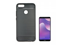 TakeMe CARBON effect TPU super thin back cover case for Huawei P Smart (2019) / Honor 10 Lite Black