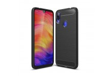 TakeMe CARBON effect TPU super thin back cover case for Xiaomi Redmi 7 Black