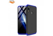 TakeMe Ultra slim 3 parts 360 Protection Back Full cover case for Xiaomi Redmi 7 Black/Blue