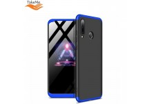 TakeMe Ultra slim 3 parts 360 Protection Back Full cover case for Huawei P30 Lite Black/Blue