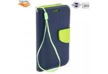 TakeMe Fancy Diary Bookstand Case Samsung Galaxy A20e (A202F) Blue/Light Green