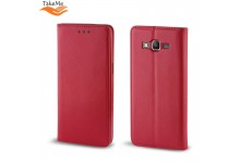 TakeMe Smart Magnetic Fix Book Case without clip Samsung Galaxy Xcover 4s (G398F) Red