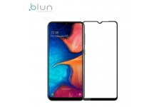 Blun 3D Extra sticky Full surface Glue 0.3mm Tempered Glass from device edge to edge for Samsung Galaxy A20e (A202F) Full Face Black