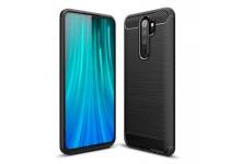 TakeMe CARBON effect TPU super thin back cover case for Xiaomi Redmi Note 8 Pro Black