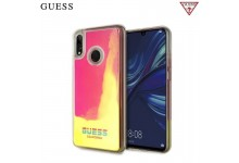 GUESS GUHCHPS19GLCP California Liquid back cover case glow in the Dark for Huawei P Smart (2019) / Honor 10 Lite Yellow/Pink