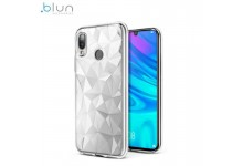 Blun 3D Prism Shape Super Thin Silicone Back cover case for Huawei P Smart (2019) / Honor 10 Lite Transparent