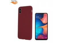 TakeMe Matte Soft TPU super slim back cover case for Samsung Galaxy A20e (A202F) Dark Red