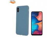 TakeMe Matte Soft TPU super slim back cover case for Samsung Galaxy A20e (A202F) Grey Blue