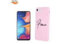 """TakeMe """"Love"""" series soft TPU back cover case for Samsung Galaxy A20e (A202F) Pink"""