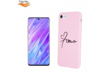 "TakeMe ""Love"" series soft TPU back cover case for Samsung Galaxy S20 (G980) Pink"