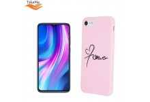 """TakeMe """"Love"""" series soft TPU back cover case for Xiaomi Redmi Note 8 Pro Pink"""