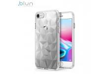 Blun 3D Prism Shape Super Thin Silicone Back cover case for Xiaomi Redmi Note 8T Transparent