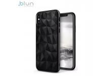 Blun 3D Prism Shape Super Thin Silicone Back cover case for Xiaomi Redmi Note 8T Black