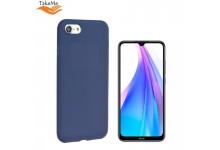 TakeMe Soft feeling super slim matte back cover case for Xiaomi Redmi Note 8T Dark blue