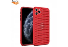 """TakeMe """"Breathing dotted"""" TPU back cover case for Huawei P40 Lite Red"""
