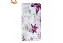 TakeMe Trendy Smart magnetic book case for Huawei P Smart (2019) / Honor 10 Lite Crocus