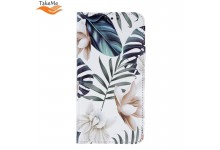 TakeMe Trendy Smart magnetic book case for Huawei P Smart (2019) / Honor 10 Lite Orhid