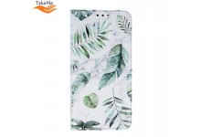 TakeMe Trendy Smart magnetic book case for Huawei P Smart (2019) / Honor 10 Lite Spring leaves