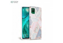 Tech-Protect Ultra thin TPU back cover case for Huawei P40 Lite Pink Marble