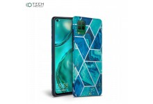 Tech-Protect Ultra thin TPU back cover case for Huawei P40 Lite Blue Marble