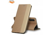 TakeMe Fabric series Smart magnetic fix book case for Samsung Galaxy S20 (G980) Gold