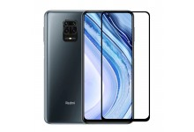 TakeMe 3D Extra sticky Full surface Glue 0.3mm Tempered Glass from device edge to edge for Xiaomi Redmi Note 9 / Redmi 10X Black